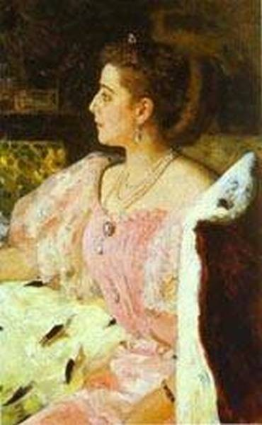 portrait of countess natalia golovina 1896 XX st petersburg russia
